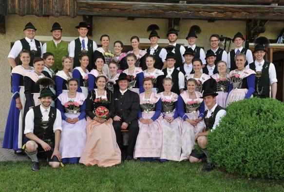 Aktive Plattlergruppe bei der Hochzeit von Regina  und Thomas Dürr 2015