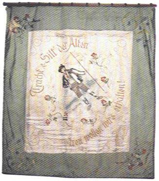 1. Fahne von hinten